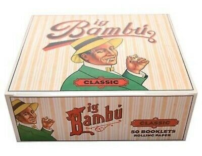 Half Box Big Bambu Classic 25 Booklet Packs Cigarette Rolling Papers