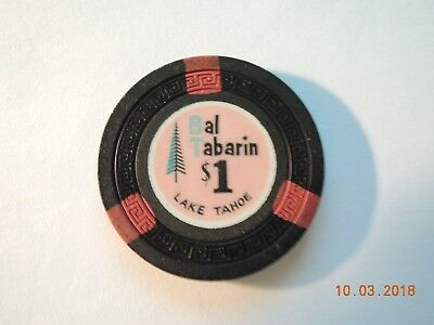 Bal Tabarin $1 Casino Chip. Lake Tahoe.