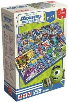 Disney MONSTERS University 2 IN 1 Boardgame Ludo + Snakes & Ladders by Jumbo NEW