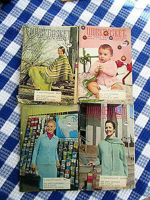 Vintage 1970'S The Workbasket And Home Arts Magazine, 4, Crochet, Knit, Recipes