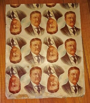 Theodore Roosevelt Print Proof. Poster. Pin, Pinback. Picture. President.