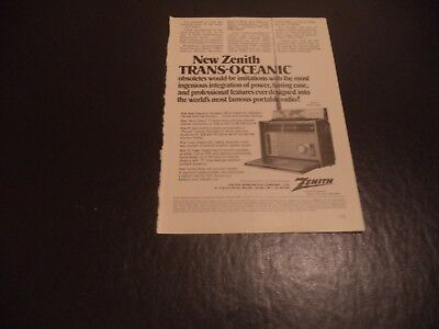 Zenith  Trans Oceanic Royal 7000-1   Vintage Ad    7     0    A     U
