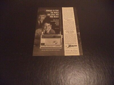 Zenith  Trans Oceanic 9 Band Portable Radio  Vintage Advert   6  4   N    O