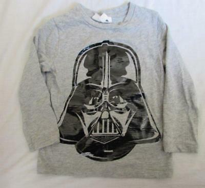 BABY GAP boys 4T Star Wars Darth Vader gray black l/s cotton shirt