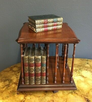 Great Size Antique Desk Top Revolving Bookcase
