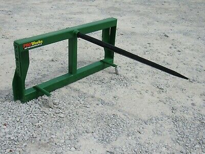 John Deere Tractor Loader Attachment - Low Back Round Hay Bale Spear - Ship $179
