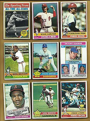Complete Finish Your 1976 Topps & Traded Sets  U Pick 20 EXMT to NRMT