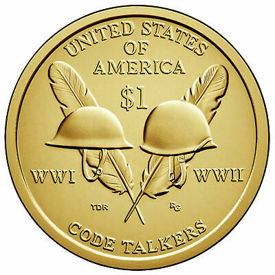 2016 P&d- Sacagawea ~~ Native American ~~ Golden Dollars ~~ From Mint Rolls