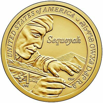 2017 P&d- Sacagawea ~~ Native American ~~ Golden Dollars ~~ From Mint Rolls