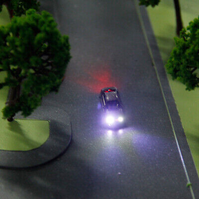 10pcs Model Cars with Light for Scenery Layout or Diorama 12V
