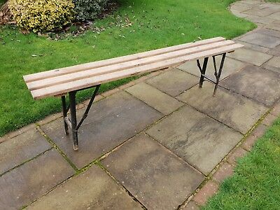 Foldable vintage bench project garden rustic