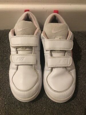 Nike Pico White & Pink Girls Trainers UK2 / EUR 34