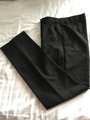 BHS TeFlon Shield+ Black Boys Trousers With Waist Extends Age 15 Years
