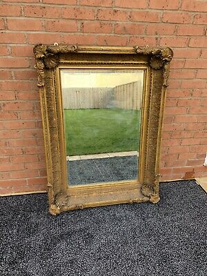 HUGE Extra Large gold gilt French antique Rococo style Wall mirror