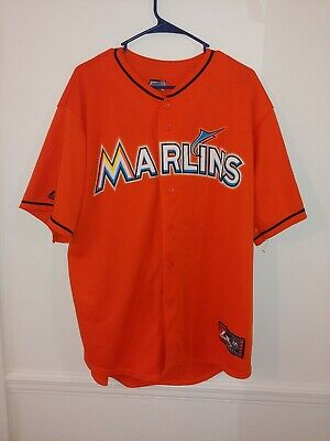 c42be580df1 VINTAGE FLORIDA MARLINS Majestic baseball jersey men s XL teal Miami ...
