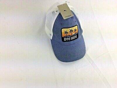 fafd144e928 TOMMY BAHAMA CAMPER Distressed White Adjustable Golf Hat Ball Cap ...