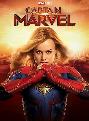 "Captain Marvel Poster 2019 Movie Brie Larson Marvel Film Art Print 24x36"" 27x40"""