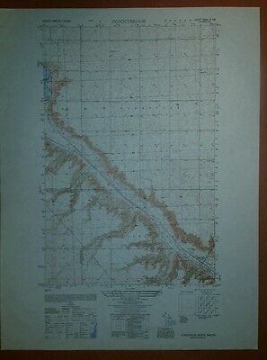 1950 Army Topographic map Donnybrook North Dakota Sheet 5681 III SW