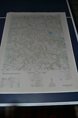 1940's Army Topographic map Bowdens Pond Georgia Sheet 4550 IV SW Camp Gordon