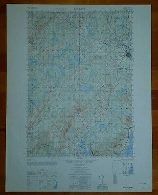 1940's Army topographic map Belfast Maine -Sheet 7172 I
