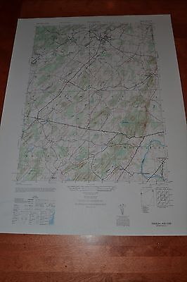 New York vintage 1940's topographic map,  Pinebush New York
