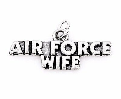 Quantity Options BFS017 Air Force Wife Charm Polished Stainless Steel
