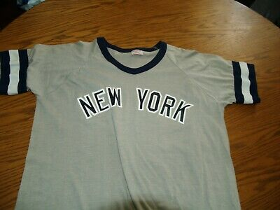 new style 68067 9bab3 VTG 80'S RAWLINGS NY New York Yankees Pullover Jersey Shirt L RINGER USA  Made