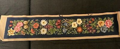 Fruit&floral Wool Tapestry Unfinished Bell Pull/beautifully Stitched VGC