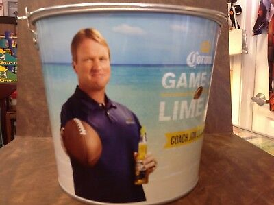 RARE NEW Corona game on lime in  coach jon gruden  Beer Ice Bucket Collectible