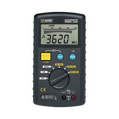 AEMC 1026 (2117.72) Digital Multi-Function Megohmmeter, 1000V Max