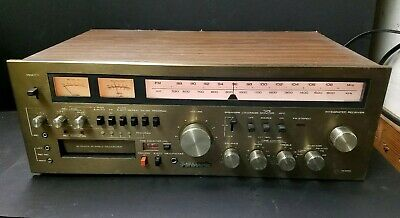 Vintage Panasonic RA6600 AM-FM Stereo Receiver With 8-Track Recorder - Works