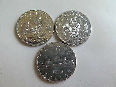 1970 1978 Canada Nickel Dollar One Dollar Canadian coins Lot of 3 (#97)