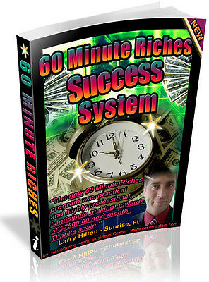 60 Minute Riches  Success System Pdf Ebook Free Shipping Resale Rights