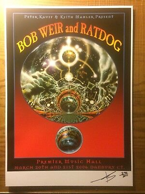 Bob Weir at RATDOG Concert Poster Danbury CT by IOANNIS Signed Numbered