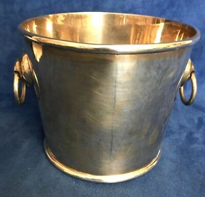 """Modernist Mexico Sterling Silver Ice Bucket Taxco """"SRS"""""""