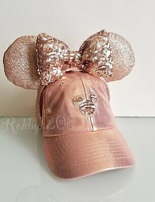 Disney Parks Briar Rose Gold Minnie Ears Hat Mickey Icon Baseball Cap Set Adult