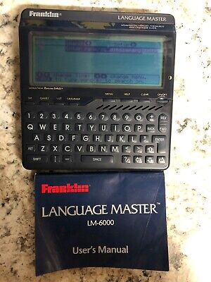 Franklin LM6000 Speaking Language Master LM-6000 Tested And Working W/ Manual