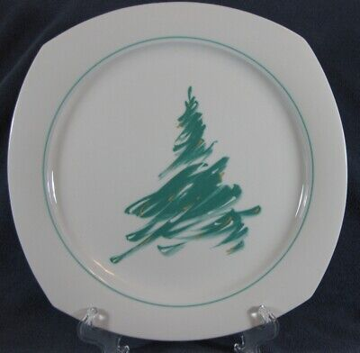 Nikko Evergreen #307 Dinner Plate Sketched Green Christmas Tree Quadrille