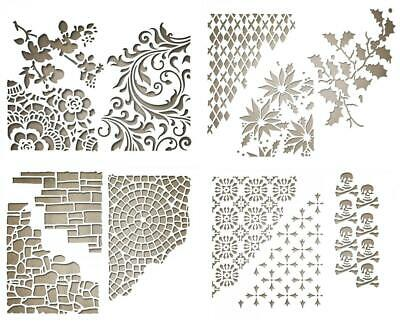 3 Stanzschablone HINTERGRUND Mixed Media Tim Holtz SIZZIX THINLITS