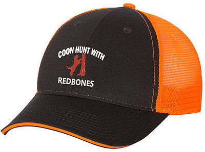 79ba9f3768cdc Cap Hat Gray Front Orange Mesh Back Redbone Coon Hound Coonhound Dog Hunter