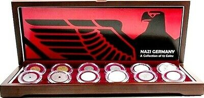 Nazi Germany: A Collection of 12 Coins In Beautiful Wood Box,Story & Certificate