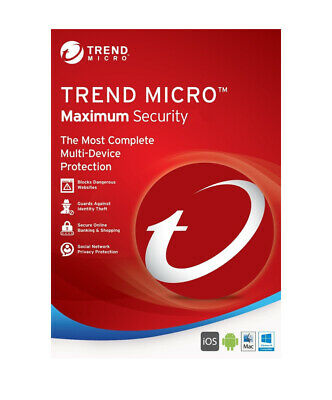 Trend Micro Maximum Security 2019 3-Device / 1-Year - CD