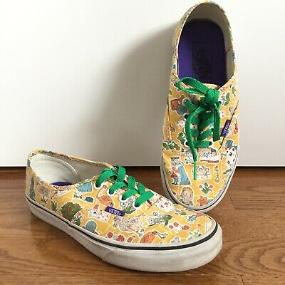 46caea272c Liberty of London x Vans Womens 7 Mens 5.5 Alice in Wonderland Shoes Yellow