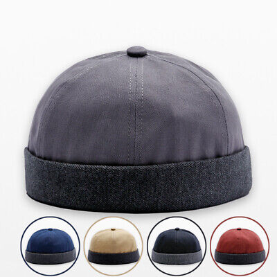 3ba1aaf2f5657 Men Hat Sailor Hats Solid Color One size Adjustable Docker Retro Vintage  2018