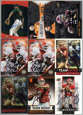 2014 Rookies and Stars #103 Aaron Murray RC Signed Auto Kansas City Chiefs