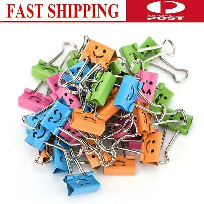 8/40PCS Colorful Metal Binder Clips Paper Clip 19mm Office Student Supplies