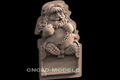 3D Model STL for CNC Router Engraver Carving Artcam Aspire Old Man Pano f538