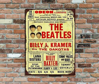 The Beatles CBS Studios NYC Colourful Retro Metal Poster Wall Sign