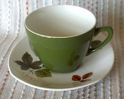 Midwinter RIVERSIDE Cup/Saucer Duo, retro, shabby chic, vintage, 1962