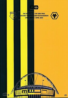 FA CUP SEMI FINAL 2019 Watford v Wolves - Official match programme